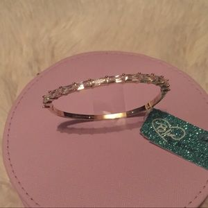 Blue by Betsey Johnson Gold Bangle Cubic Zirconia